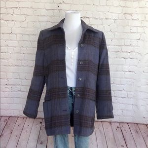 Vintage Mohair Plaid Coat